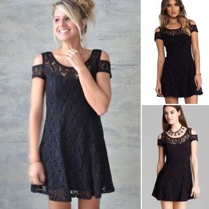 Free People Kiss the Sun Off Lace Crochet Dress